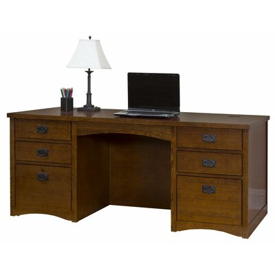 Mission Pasadena Double Pedestal Executive Desk Image 846