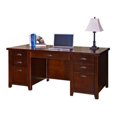 Tribeca Loft Double Pedestal Executive Desk 610 Photo