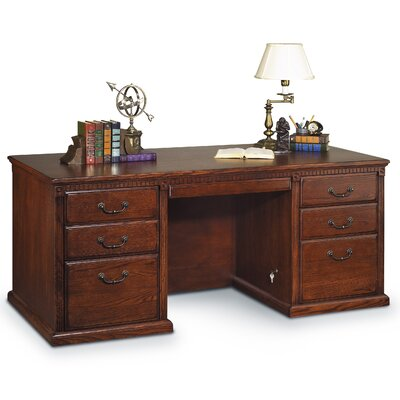 Huntington Oxford Double Pedestal Executive Desk Finish: Burnish Product Picture 4826