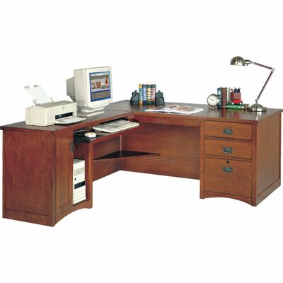 Computer Desk for Left Hand Facing Keyboard Return with Pencil Drawer Product Picture 4826
