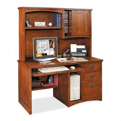 Pasadena Deluxe Computer Desk Hutch Mission Product Picture 830