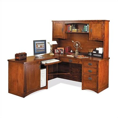 Mission Pasadena L-Shape Executive Desk with Hutch Product Picture 4826