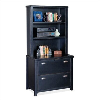 Low Price Kathy Ireland Home By Martin Furniture Tribeca Loft Black Lateral  File And Open Hutch