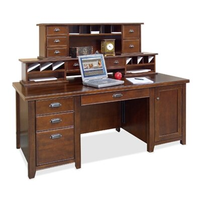 Tribeca Loft Computer Desk with Keyboard Tray and Hutch Product Picture 4826