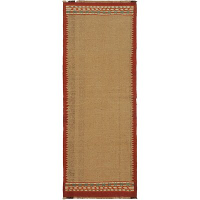 Ankara Beige/Dark Red Geometric Area Rug Rug Size: Runner 34 x 91