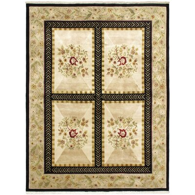 Opulence Beige Open Field Area Rug Rug Size: Rectangle 79 x 96
