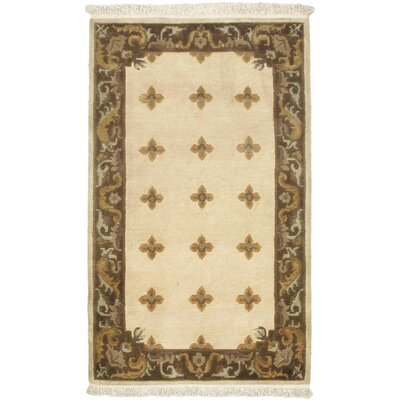 Karma Cream Open Field Area Rug Rug Size: 3 x 5