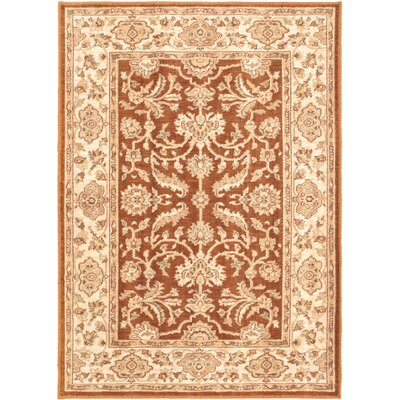 Lotus Garden Espresso Brown Open Field Rug