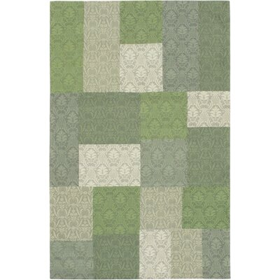 Collage Light Green/Teal Open Field Area Rug