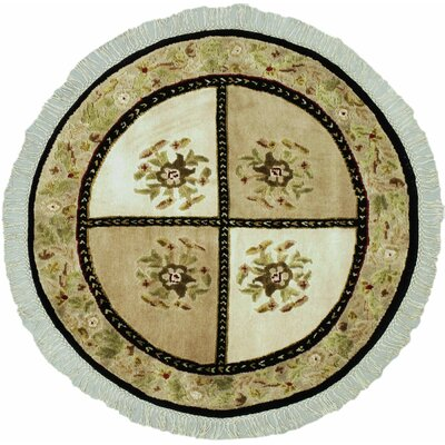 Opulence Beige Open Field Area Rug Rug Size: Round 36