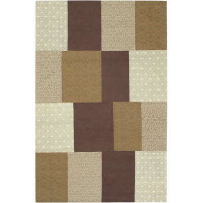 Collage Brown / Beige Patchwork Area Rug