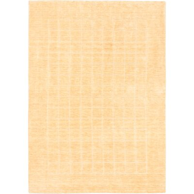 Luribaft Gabbeh Riz Light Khaki Panel Area Rug