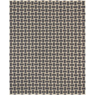 Elani Cream/Dark Gray Geometric Rug Rug Size: 8 x 10