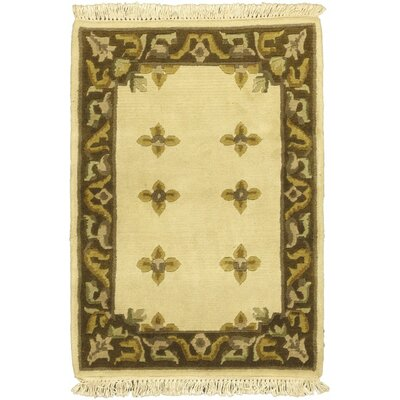 Karma Cream Open Field Area Rug Rug Size: 2 x 3