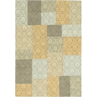 Collage Light Gold/Light Gray Area Rug