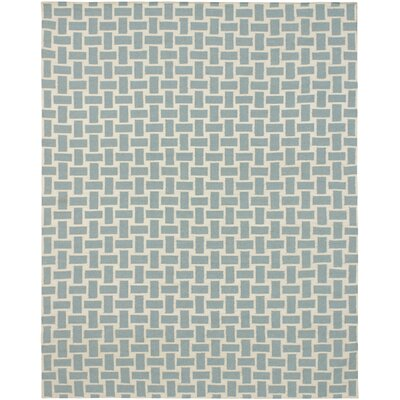 Kerala Cream/Light Blue Geometric Rug