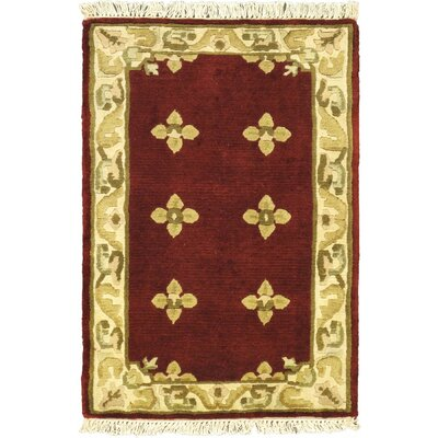 Karma Red Open Field Area Rug