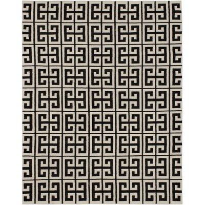 Kerala Black/Cream Geometric Rug Rug Size: 8 x 10