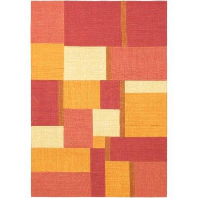Orange/Yellow Mosaico Open Field Area Rug