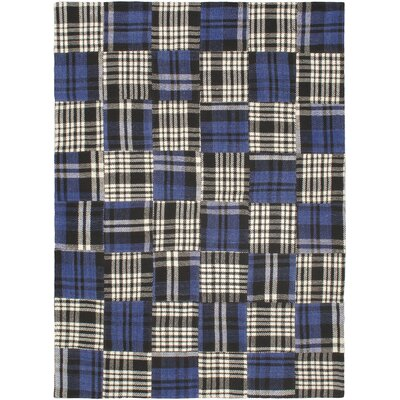 Blue Scottish Patch Area Rug