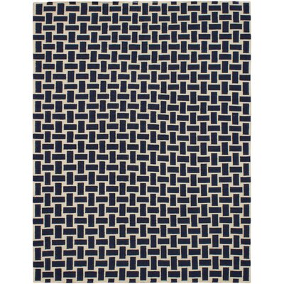 Elani Cream/Navy Geometric Rug