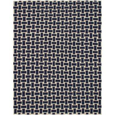 Kerala Cream/Navy Geometric Indoor/Outdoor Rug