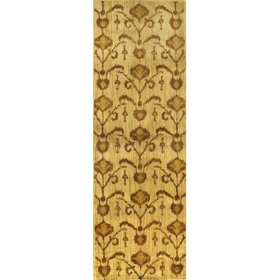 Ikat Vine Light Brown Abstract Area Rug Rug Size: Runner 28 x 78