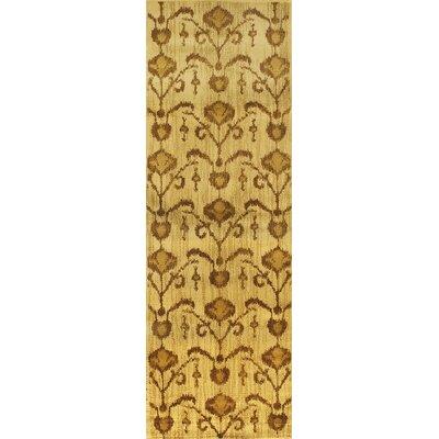 Ikat Vine Light Brown Abstract Area Rug Rug Size: Runner 28 x 78