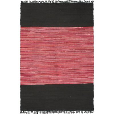Sienna Black/Dark Pink Open Field Area Rug