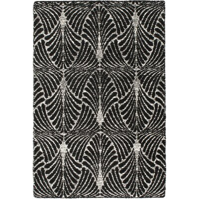Javier Black Abstract Rug Rug Size: 311 x 511