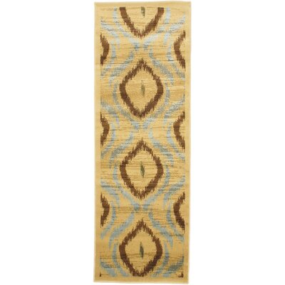 Ikat Open Field Red/Gold Area Rug