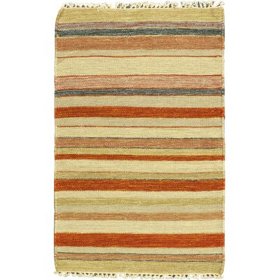 Kaleidoscope Cream Striped Outdoor Area Rug Rug Size: 2 x 211