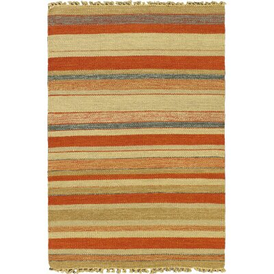 Kaleidoscope Cream Striped Area Rug Rug Size: 28 x 311