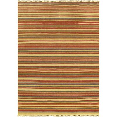 Kaleidoscope Red Striped Area Rug Rug Size: 67 x 92