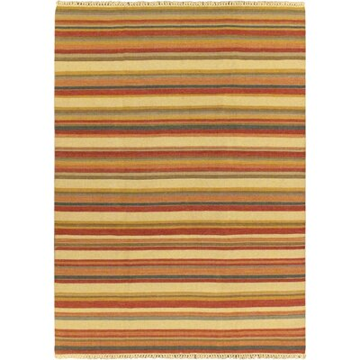 Kaleidoscope Cream Striped Area Rug Rug Size: 67 x 92