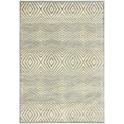 Mauree Cream/Light Gray Open Field Rug Rug Size: 53 x 76