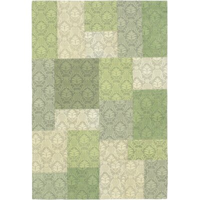 Collage Green/Light Green Open Field Area Rug