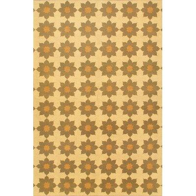 Beige/Cream Floral Lahor Finest Area Rug