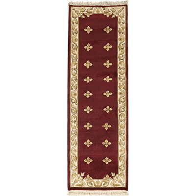 Karma Dark Red Open Field Area Rug