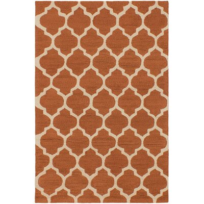 Exeter Dark Orange Floral Area Rug