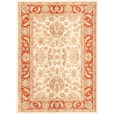Lotus Garden Champagne/Ivory Open Field Rug