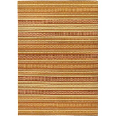 Jalal Tuareg Brown/Orange Abstract Area Rug
