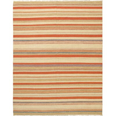 Kaleidoscope Orange Striped Area Rug