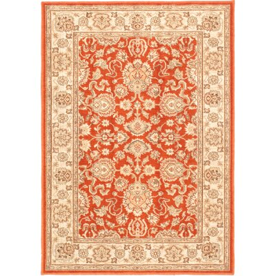 Lotus Garden Btor Dark Copper Open Field Rug