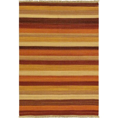 Fiesta Dark Red Striped Area Rug