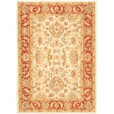 Lotus Garden Champagne Cream/Dark Copper Open Field Rug
