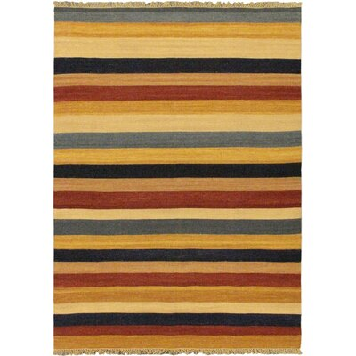 Fiesta Brown/Orange Striped Area Rug
