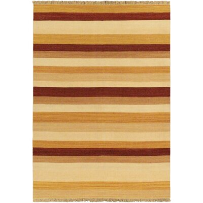 Fiesta Orange Striped Area Rug