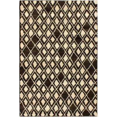 Atlas Marrakech Open Field Cream/Dark Brown Area Rug Rug Size: 53 x 76