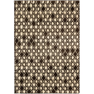 Atlas Marrakech Open Field Cream/Dark Brown Area Rug Rug Size: 710 x 1010